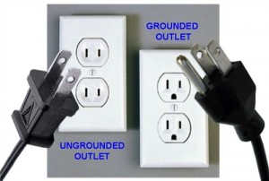 Grounded outlets