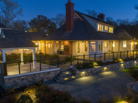 Griff Electric Jamestown RI luxury home electrical wiring exterior lighting