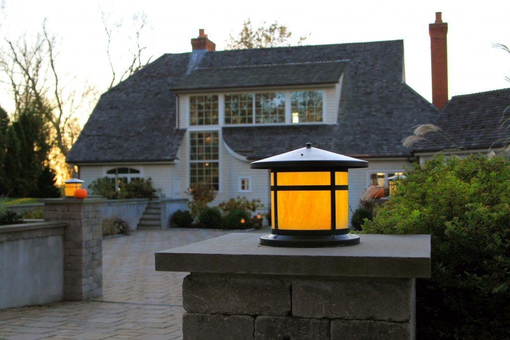 Jamestown Rhode Island waterfront home Griff Electric led lighting exterior lights