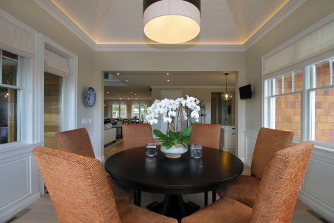 Interior dining lighting and electrical wiring luxury home middletown rhode island