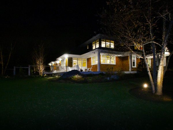 Interior and exterior lighting and electrical wiring luxury home middletown rhode island