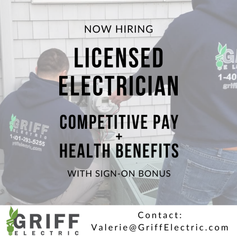 Rhode Island Licensed Electrician job opportunity