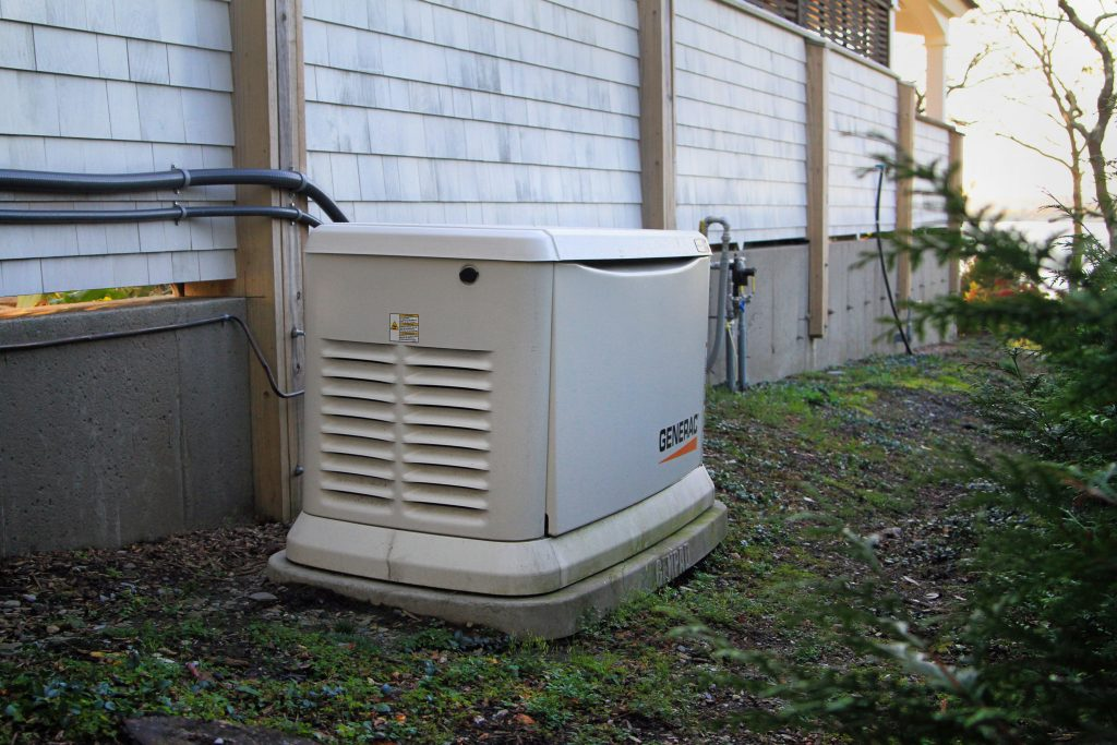 Jamestown Rhode Island waterfront home Griff Electric back up power supply generator